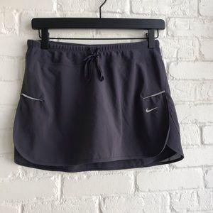 Nike Dri Fit Athletic Skirt Skort Gray Small